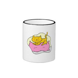 Cat On Pillow Mugs