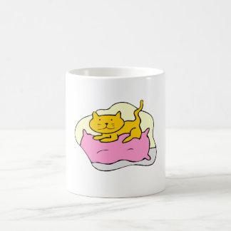 Cat On Pillow Mug