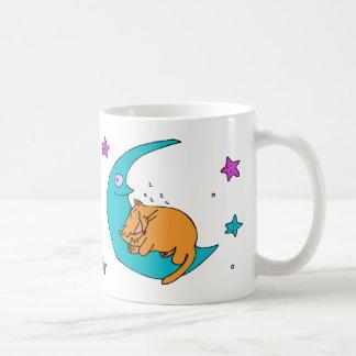 Cat On the Moon Coffee Mugs