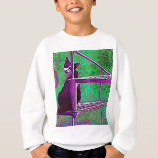 Cat on the stairs sweatshirt