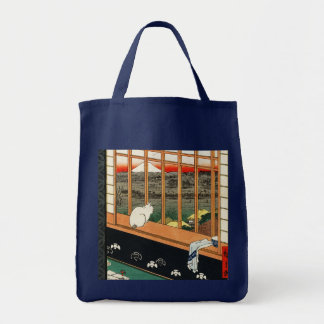 Cat on Window by Hiroshige Tote Bag