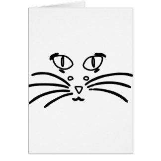 Cat or Mouse Optical Illusion Card
