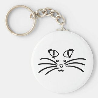 Cat or Mouse Optical Illusion Key Chain