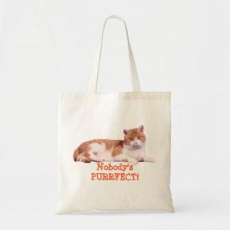 Cat Orange & White Tote Bag