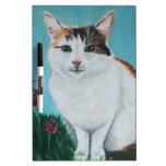 Cat Original Oil Painting by Joanne Casey Dry-Erase Board