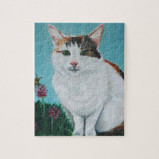 Cat Original Oil Painting by Joanne Casey Puzzle