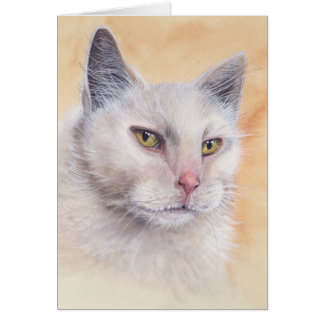 Cat Painted in Watercolour Card