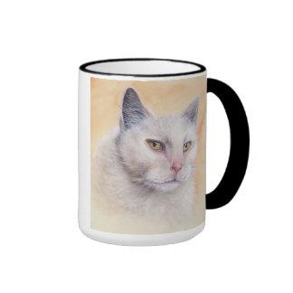 Cat Painted in Watercolour Ringer Mug