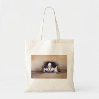 Cat Painted in Watercolour Tote Bag