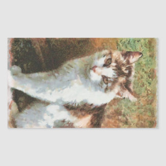 Cat painting stickers