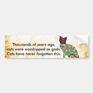 Cat Patchwork Pet Bumper Sticker