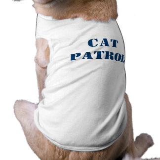 Cat Patrol Sleeveless Dog Shirt