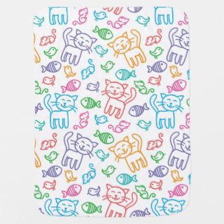cat pattern baby blanket
