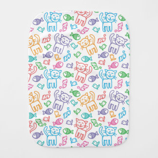 cat pattern burp cloth