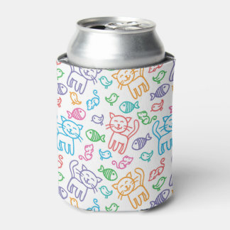 cat pattern can cooler