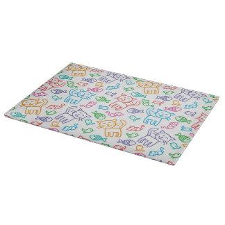 cat pattern cutting board