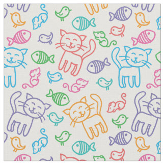 cat pattern fabric