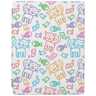 cat pattern iPad cover