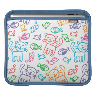 cat pattern iPad sleeve