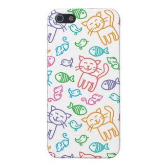 cat pattern iPhone 5/5S cases