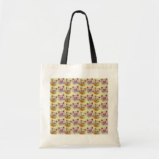 cat pattern, meow budget tote bag