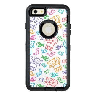 cat pattern OtterBox defender iPhone case