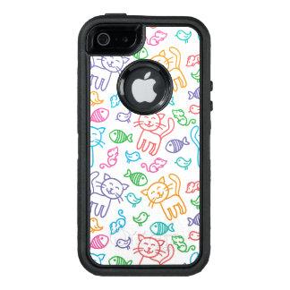 cat pattern OtterBox iPhone 5/5s/SE case