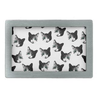 Cat pattern rectangular belt buckles