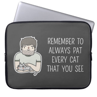 Cat Patting Laptop Sleeve