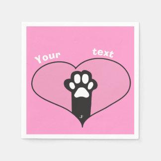 Cat paw disposable serviette