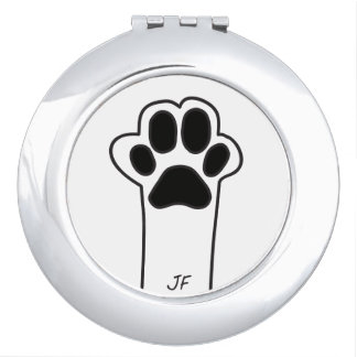 Cat paw mirror for makeup