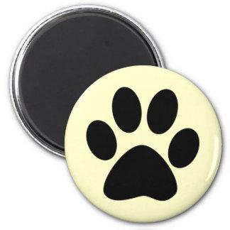 Cat Paw Print 6 Cm Round Magnet
