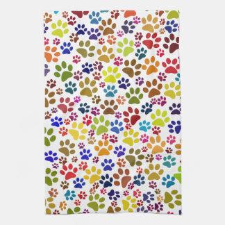 Cat Paw Print Pattern Kitchen Towel
