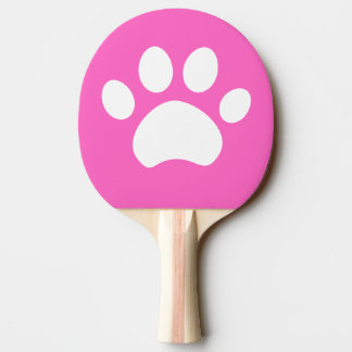 Cat Paw Print Ping Pong Paddle