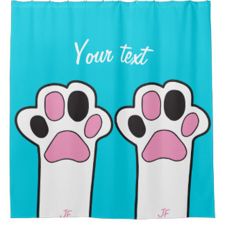 Cat paw shower curtain