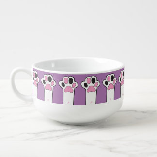 Cat paw soup mug
