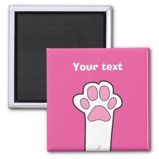 Cat paw square magnet