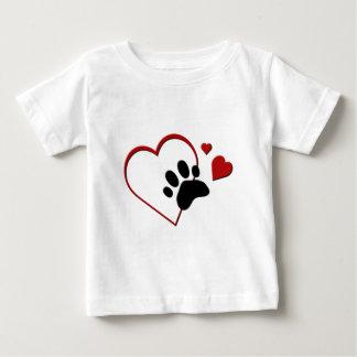 Cat Paw Track Hearts I Love my Cat Infants T T Shirt