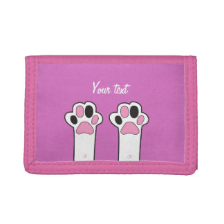 Cat paw trifold wallet