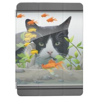 Cat Peering in Fish Tank iPad Air Cover