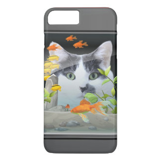 Cat Peering in Fish Tank iPhone 7 Plus Case