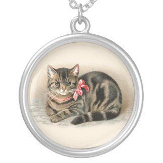 Cat Pendant Cute Vintage Cat Necklace Jewelry