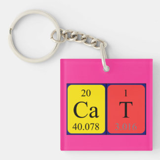 Chemistry cat gifts on zazzle uk cat periodic table name keyring urtaz Gallery
