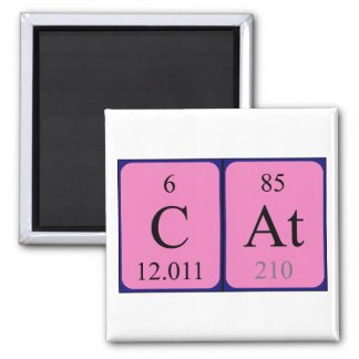 Chemistry cat gifts on zazzle uk cat periodic table name magnet urtaz Gallery