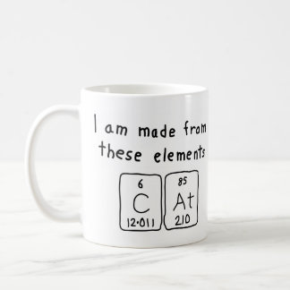 Cat periodic table name mug