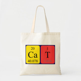 Chemistry cat gifts on zazzle uk cat periodic table name tote bag urtaz Gallery
