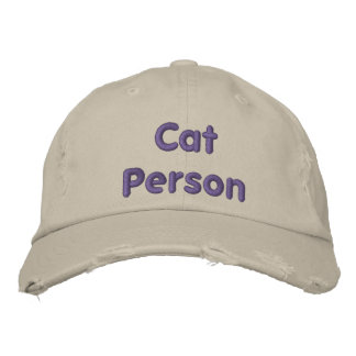 Cat Person - Funny Baseball Hat Embroidered Cap