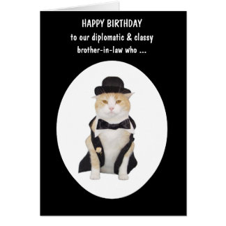 Cat Person Funny Male Birthday Greeting Card