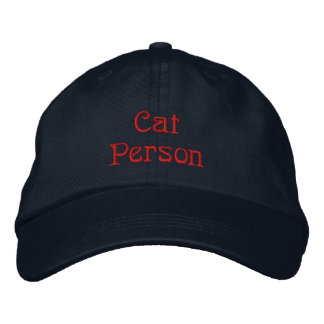 Cat Person Hat Embroidered Hat