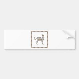 CAT pet animal CRYSTAL Jewel NVN452 KIDS LARGE Bumper Stickers